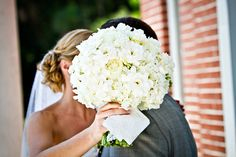 Once in a lifetime ~ a BIG white bouquet!! http://su.pr/1mUKZn   Photography by lifewritingphotography.com, Floral Design by mmdevents.com