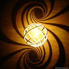 double spiral by applying a light projection from a loxodrome onto a plane, stereographic projection