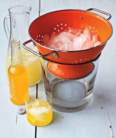 Prevent a watery ice bucket by serving ice out of a colander. AND, lots of other tips like this!
