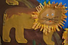 African Lions by paintedpaper Classroom Art Projects, Art Classroom, Classroom Ideas, School Projects, Animal Crafts For Kids, Art For Kids, Kids Crafts, African Art Projects, Kids Artwork