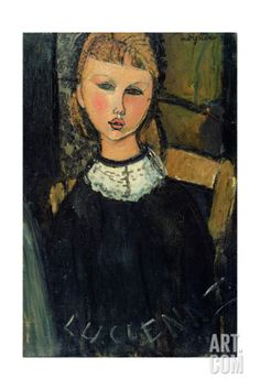 Lucienne, c.1916-17 Giclee Print by Amedeo Modigliani at Art.com