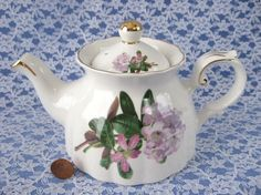 Royal Patrician Teapot Pink And Mauve Rhododendron English Bone China
