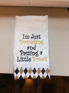 New Orleans Saints baby burp cloth by SewSewNola on Etsy, $10.00