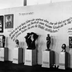 inside the Degenerate Art Exhibition, 1937