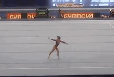 So hope to see this at World's! (gif of Aliya Mustafina's triple Y-turn to double turn)