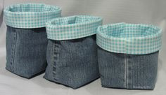Threading My Way: Denim Fabric Baskets...