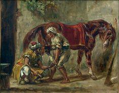 A blacksmith - Eugène Delacroix. Titulo original: Le maréchal ferrant. Orientalismo