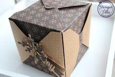 Geschenkschachtel Schneeflöckchen, Stampin' Up! Gift Box Punch Board, Stanz- und Falzbrett für Geschenkschachteln
