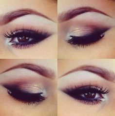 Beautiful eye makeup for small eyes .