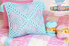 Olá pessoal bom dia aula de hoje no meu canal do #youtube Almofada Candy Colors  http://ift.tt/2ecaKYR #bomdia #crochet #professorasimone #semprecirculo #BarrocoCandyColors