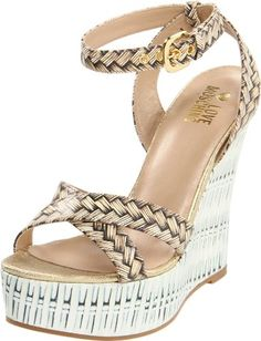 Love Moschino Women's Trompe L'Oeil Ankle-Strap Sandal