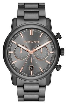 MICHAEL Michael Kors Michael Kors 'Pennant' Chronograph Bracelet Watch, 43mm (Nordstrom Exclusive) available at #Nordstrom