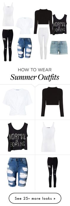 """Blhue's Outfit # 8"" by blhue on Polyvore featuring Vince, Miss Selfridge, T By Alexander Wang, Topshop and Paige Denim"