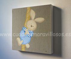 Decoración infantil con cuadros pintados artesanalmente por encargo. Se envían a toda España. Precios y medidas en www.cuadrosmaravillosos.es