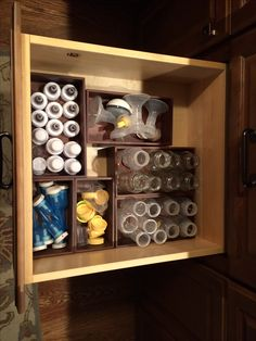 Organized drawer for baby bottles