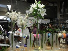 White flower arrangement for wedding and event,.