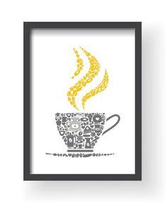 Mustard Yellow Gray Kitchen Wall Decor, Gray Yellow Kitchen wall art, Yellow Kitchen prints, Yellow Gray Home Decor, Gray Dining room decor - Kitchen Ideas Grey Yellow Kitchen, Grey Kitchen Walls, Kitchen Wall Colors, Kitchen Prints, Dining Room Walls, Kitchen Wall Art, Kitchen Decor, Gray Yellow, Mustard Yellow