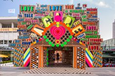 Morag Myerscough and Luke Morgan's temple of love on London's Southbank