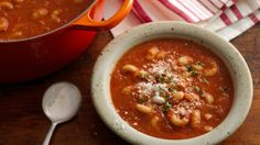 This classic Italian soup comes together quickly and is hearty enough that even meat eaters will be satisfied! Pureeing a portion of the beans gives the soup creamy texture without added fat or calories.