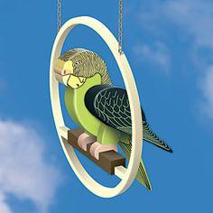 3d Parakeet DIY Woodcraft Pattern #2167- Display this cute bird on this…