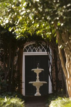 The Alumnae House Fountain - Salem College, Winston-Salem, USA