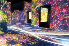 In the summer of tokyo will host a full-scale digital art museum called 'MORI building DIGITAL ART MUSEUM: teamLab borderless.' the space will showcase the japanese collective's first permanent exhibition and flagship facility. Tokyo Museum, Japan Holidays, Photo Sculpture, Tokyo Travel, Tokyo Trip, Interior Wallpaper, Digital Museum, Projection Mapping, Inspirational Artwork