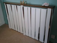 Larger radiator upcycled from wooden pallets