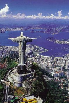 Rio de Janeiro – Located in Brazil. It is the capital city of the State of Rio de Janeiro, the largest city of Brazil. Rio de Janeiro is considered to be on Places Around The World, Travel Around The World, Around The Worlds, Dream Vacations, Vacation Spots, Christ The Redeemer Statue, Jesus Christ, Savior, Adventure Is Out There