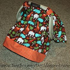 Sew Scrappy Day: DIY Infant Carrier Cover - Perfect for Shielding Baby