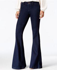 Free People Jolene Flared Perfect Navy Wash Jeans - Jeans - Women - Macy's