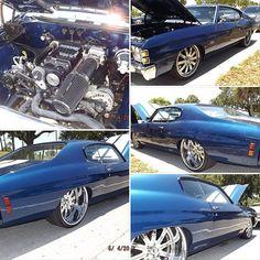 71 chevelle lsx motor. asanti wheels tucked