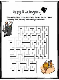 free printable thanksgiving maze