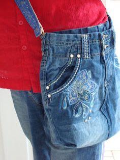 Christine's Chatter: Denim jeans bag