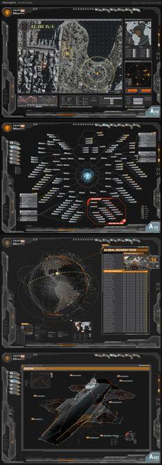 Jayse Hansen – Portfolio SiteAvengers Helicarrier Fury's Glass Screens | Jayse Hansen - Portfolio Site