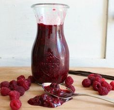 Raspberry Syrup made with honey