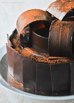Chocolate decorations cake