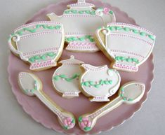 Tea For Two Sugar Cookies by ALittleBitOfParis on Etsy, $18.00