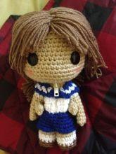Miki Sackgirl Doll from Miki Falls - Free Amigurumi Pattern here: http://goldenjellybean.com/youtube/about/miki-falls-pattern/ ༺✿ƬⱤღ  https://www.pinterest.com/teretegui/✿༻
