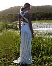 Amanda Wakeley Wedding Dresses - v-necked georgette dress