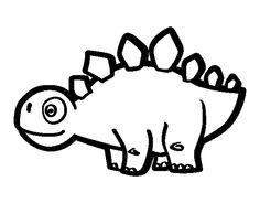 Dibujo de Estegosaurio joven para colorear
