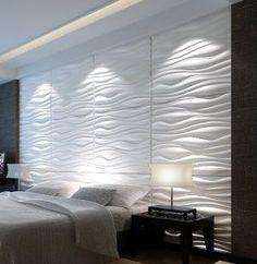 Decor: Revestimentos 3d. - Você precisa decorVocê precisa decor Deco Design, Loft Design, Ceiling Design, Wall Design, Home Decor Furniture, Furniture Design, Bedroom Wall, Bedroom Decor, Panneau Mural 3d