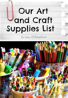 Some have asked what art and craft supplies we keep on hand, so I thought I'd do a couple of posts to tell you about what art and craft supplies we use. This