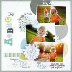 Traditional #scrapbooking layout using the #creativememories Reflections Power Palette