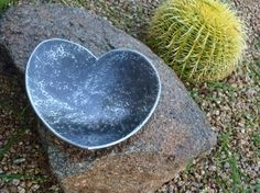 Steel Heart - Desk Art Bowl