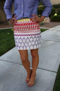 Printed cotton skirt.