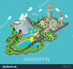 http://image.shutterstock.com/z/stock-vector-flat-d-isometric-map-mobile-gps-navigation-app-infographic-concept-city-countryside-lake-mountain-321113894.jpg
