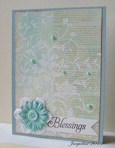 Blessings by Jacqueline.fr, via | http://cutegreetingcards.blogspot.com