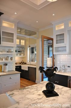 Street of Dreams Portland Style:This amazing kitchen has a baking alcove.  Definitely the house of my dreams!