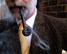 Cold foggy day means Pipe and Harris Tweed 10/1/13