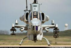 "US Marine Corps Bell AH-1W Super Cobra (209), 160803 / HF-21 (cn 29158). Fort Smith - Regional (Municipal) (FSM / KFSM) - USA. April 7, 2010. A very ominous view from HMLA-269 ""Gunrunners""."